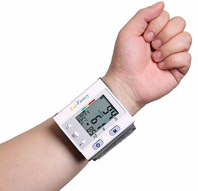 Blood Pressure Monitor Automatic Digital Wrist LCD Heart Rate Pulse Portable NEW