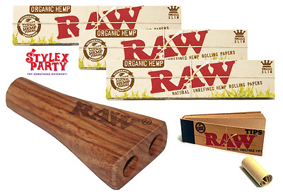 3 Raw Organic Rolling Paper & Double & Raw Filter Tips Smoking Papers Set
