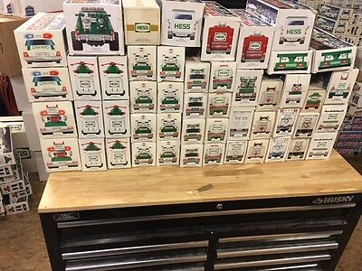 LOOK AT THIS LOT! Huge Hess truck Lot!!! Lot of 49 Trucks Truck!!