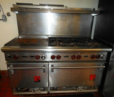 Lot of (2) WOLF Commercial Gas Ranges w/ Ovens - See details