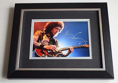 Brian May SIGNED 10X8 FRAMED Photo Autograph Display Queen Music AFTAL & COA