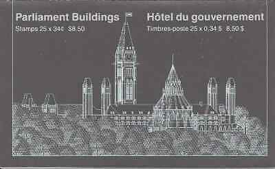 Canada - 1985 Parliament Buildings - Booklet Pane (25) In Cover - Mnh - Bk89A