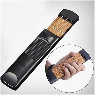 Portable Wooden Pocket Guitar Practice Strings Trainer Tool