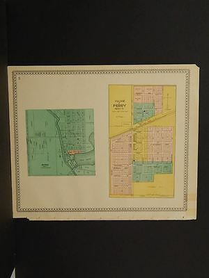 Michigan Shiawassee County Map Perry Byron  1895    !J8#79