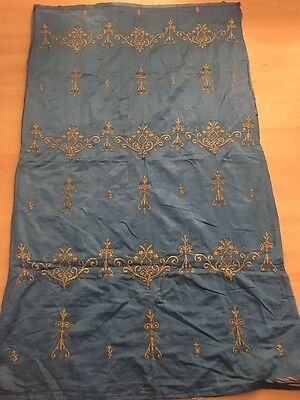 19th ANTIQUE OTTOMAN-TURKISH GOLD METALLIC HAND EMBROIDERED PANEL 163cm*95cm