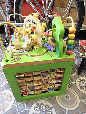 PARENTS Wooden Activity Cube Creative Learning Cube