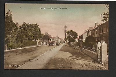 Queensferry - Chester Road - printed postcard