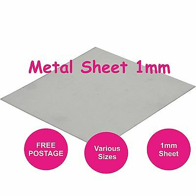 MILD STEEL SHEET METAL PLATE PANEL FLAT 1mm  Various Sizes