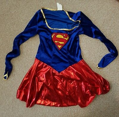 Adult Small Super Girl Woman Costume - Used -Cosplay Party Fancy Dress Halloween