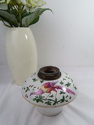 Original Vintage Victorian Messangers Hand Painted Reservoir Oil Lamp