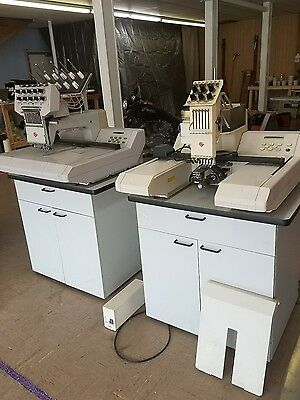 2 Melco Industrial Embroidery Machines
