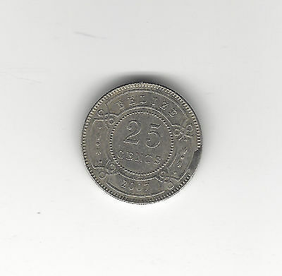 11. A 2007 Belize 25 Cent Coin With A Cud Error Reverse