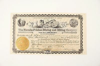 Frisbee, Nevada (Lander County) ~ 1907 -  Mining stock certificate No.324 **rare