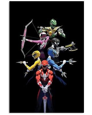 Power Rangers with Weapons 16x24 Print (E)