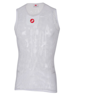 Castelli Men's Core Mesh Sleeveless Size L/XL Cycling White New