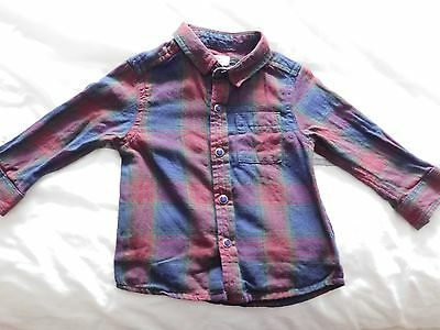 River Island Baby Boy Checked Shirt Size 3-6Months