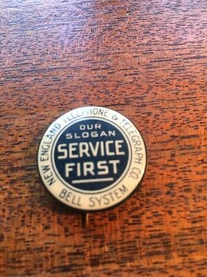 New England Telephone & Telegraph Co. Bell System Pin