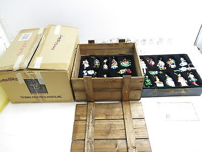 2003 Collection Thomas Pacconi Classics Christmas Ornaments With Wooden Case
