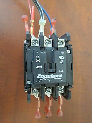 COPELAND-012-1401-06 3 Phase Contactor 40 FLA 50 A RES 208 VAC Coil