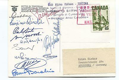 Pro Julia Dertona ITALY Club Alpino Cumberland Baffin Polar Arctic Cover SIGNED