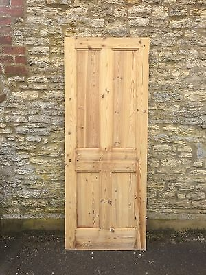 Antique Victorian Stripped 4 Panel Pine Doors 11 Available
