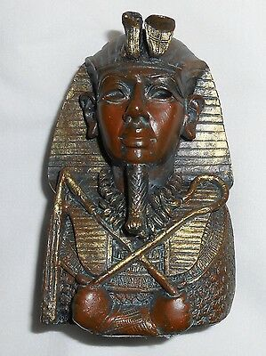 Beautiful Egyptian Ancient Pharaoh King Tut Sculpture Tutankhamun Figurine