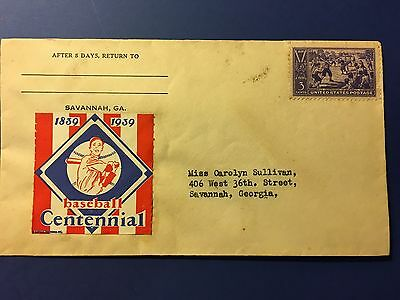 Baseball First Day Cover 1939 Centennial