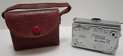 Vintage Mamiya Super 16 Miniature Spy Camera W/case ***made In Occupied Japan***