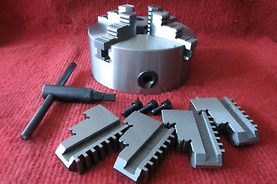 100mm 4 Jaw Self-centering Lathe Chuck K12-100 with MT2 Shank Back Plate CNC