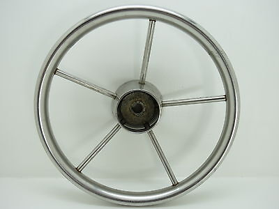 AUTHENTIC 12 inch STAINLESS STEEL BOAT SHIPS WHEEL SAILBOAT DECOR (#2320)