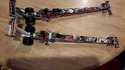 1 /24Th Garlits And Muldowney Diecast Dragsters Rare Super Graphics Together
