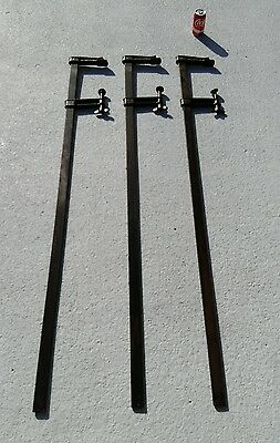 """Three BIG Wetzler Clamps 5'  6"""" USA Made in Long Island NY #1"""