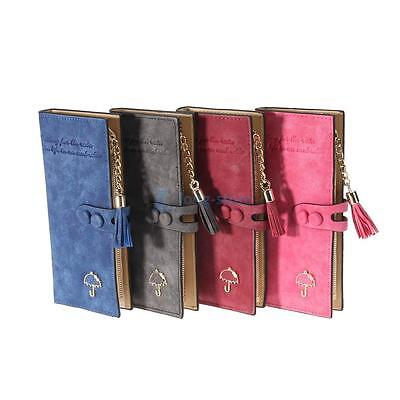 Fashion Lady Women Leather Clutch Wallet Long Card Holder Case Purse 4 Colors