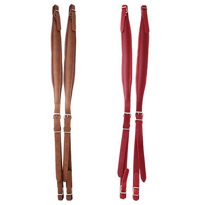 Two Pairs of PU Leather Shoulder Hardness Straps for 16-120 Bass Accordion