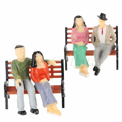 10x Sitting Poses People Figures Model Architectural 1:30 Scale Colorful Painted