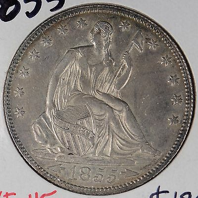 1855 50C Arrows Liberty Seated Half Dollar Extra Fine #162962