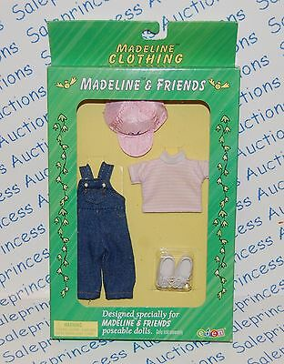 """NIB Madeline 8"""" PLAYTIME Doll Outfit Eden Overalls Hat Shirt Shoes Play Time"""