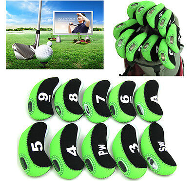 10x Green and Black Neoprene Window Top Iron Head Covers Free Delivery Included