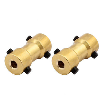 2pcs 3.0mm to 2.3mm Copper DIY Motor Shaft Coupling Joint Connector for Toy Car