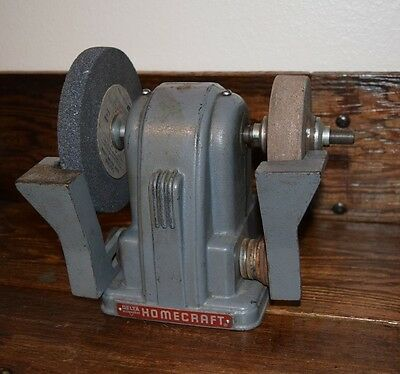 Delta Milwaukee Homecraft Belt Driven Bench Grinder Art Deco Vintage Antique Picclick