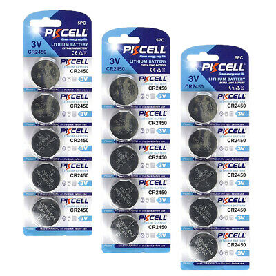 20x 3V Lithium Button Coin Cell Batteries CR2450 ECR2450 DL2450 for Watch PKCELL