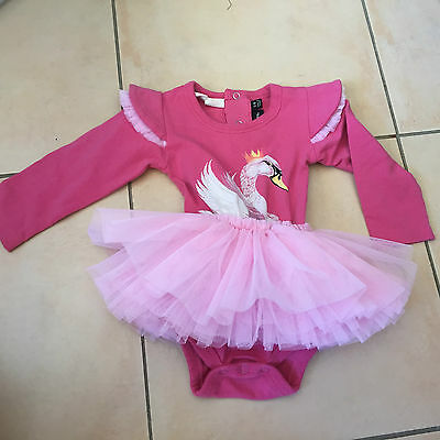 Rock Your Baby Pink Swan Circus Dress  Sz 3-6  Months