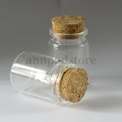 35ML/50ML/65ML/90ML Empty Sample Vials Clear Glass Bottles with Corks Jars