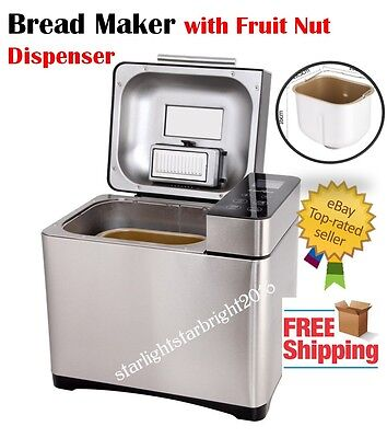 Bread Maker Machine Automatic Stainless Steel Home Bakery Professional Kitchen