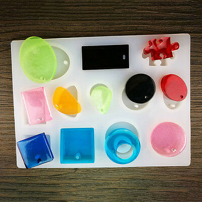 DIY Silicone Mold Resin Jewelry Making Epoxy Pendant Craft Mould 15.3*11.4*0.8cm