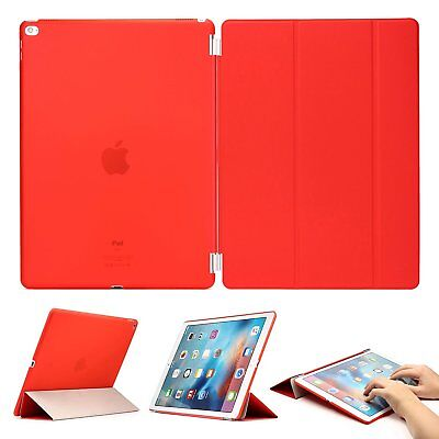 Urcover® Smart Cover Stand Schutz-Hülle + Folie Rot Apple iPad Pro 12.9 ""