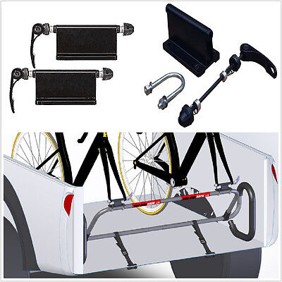 Pair bicycle block quick-release fork mount Pickup Truck Bed Rack Carrier Holder