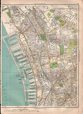 1935 Lancashire Large Scale Map - Bootle Docks Orrell Liverpool Seaforth