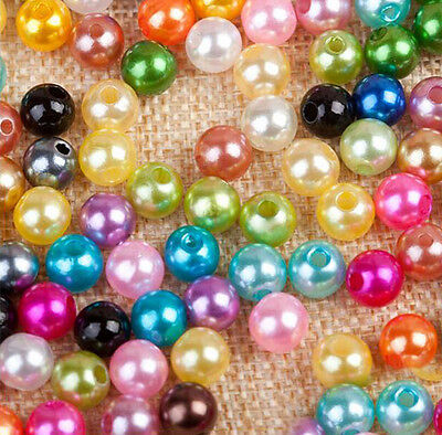 Mixed Pastel Colours Glass Pearl Round Beads Jewelry Craft DIY 4/5/6/8/10mm