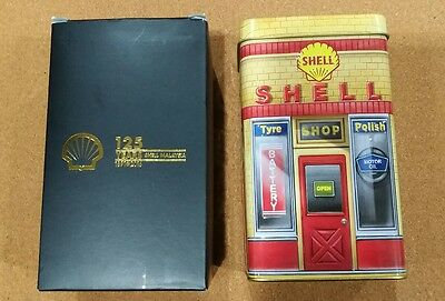 RARE Shell Heritage Canister Collection Tin Box + Fridge Magnet Limited Edition